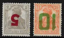 Poland stamps 1919 MI 135-136 Inverted Ovpt signed  MLH  VF