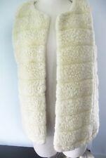 Faux Fur Vest, Sherpa style, NY & Co, Women Sz Small, Side Pockets, Polyester