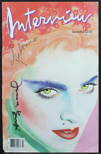 Andy Warhol Signed 1985 11x17 Madonna Interview Magazine Cover BAS #AB14001