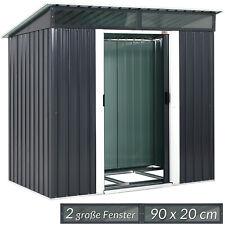 Gerätehaus L Geräteschuppen 2m² Metall Gartenhaus Schiebetür 3,4m³ Gardebruk