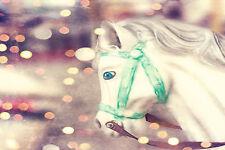 SUPERB Retro Vintage Carousel Horse Canvas #481 Quality Framed Art Picture