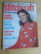 STITCHCRAFT JULY 1980 - Vintage Knitting & Embroidery Magazine