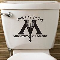 Harry Potter Ministry Of Magic Toilet Vinyl Decal Sticker House Fantastic Beasts