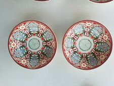 Pottery Barn Mezze Floral Bowls Red S/ 2 #3593