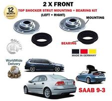 FOR SAAB 93 9-3 + TID 2002--> NEW 2 X FRONT TOP SHOCKER MOUNTING + BEARING KIT