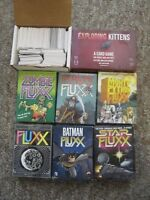 SIX Fluxx Games PLUS Expoding Kittens, Bohnanza, Cards Against Humanity