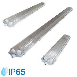 LED Feuchtraumleuchte Wannenleuchte Kellerleuchte Werkstatt IP65 inkl.LED Röhren