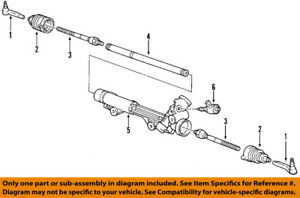 FORD OEM Steering Gear-Outer Tie Rod End 3W4Z3A130AA