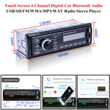 4-Channel LCD Digital Touch Car Bluetooth Audio USB/FM/MP3 Radio Stereo Player