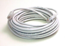 25 Foot White Molded Cat5e Network Cable - 25' Feet Ethernet Gold Plated RJ45