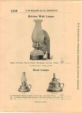 1904 AD Queen Kitchen Wall Lantern Lamp Hornet Planters' Hand Lamps Dietz Globes