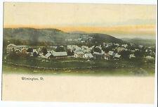 Wilmington Vermont VT Aerial View Birds Eye Vintage Postcard