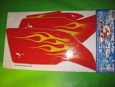 HONDA TRX450R RED FLAME FENDER CEET TECHNOLOGY FENDER GRAPHICS DECALS OEM