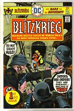 BLITZKRIEG #1 Battle Sagas of WWII! First DC Issue Comic Book ~ VF
