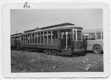 X851 RP 1940s NYCTS BMT 4100 TROLLEY IN CONEY ISLAND NYC NY SCRAP YARD