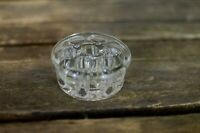 Vintage Clear Glass flower frog