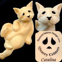 Quarry Critters Catalina Cat Second Nature Designs 2000 RARE Extra Large