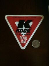 Mint Pearl Jam 1998 New York City Yield KROCK Promo Sticker NYC RARE