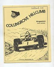 1978 Collingrove Hill Climb Programme Production Touring Racing Sports Vintage
