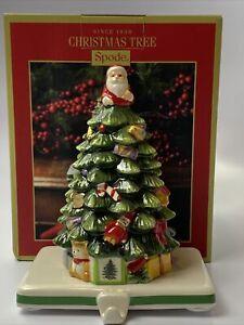 Spode Christmas Tree Stocking Holder Porcelain Santa Mantle Hanger XT8562New