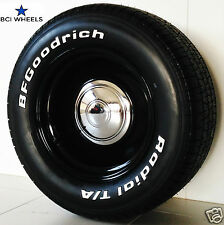 "15"" 5"" 6"" 7"" 8"" 9""  SMOOTHIE BLACK steel WHEELS RIMS Ford FALCON XY HQ HOLDEN WB"