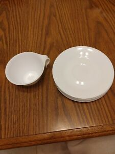 Corelle Classic Winter Frost White saucers  Set of 8 and 1 hook cup
