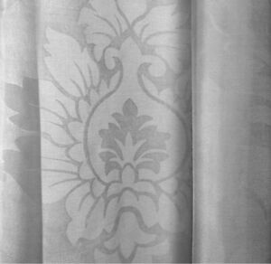 "New Mainstays Toile Textured Sheer Window Curtain Panel 56"" x 95 Gray"