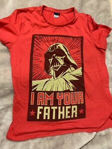 Star Wars Darth Vader I Am Your Father Red T-Shirt Mens Size XL Pre-Owned