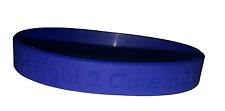 Blue Silicone Debossed Awareness Bracelet