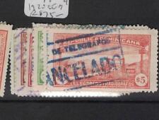 Dominican Republic 1920 Telegraph Set of 9 VFU (5dti)