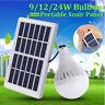 9/12/24W Panneau Solaire +LED Bulb Ampoule Lumière Lampe Portable Jardin Étanche