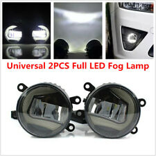 2PCS Full LED Fog Lamp Angel Eye + Sun Light Front Bumper Clear Lens for Subaru