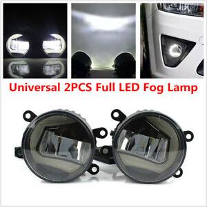 2PCS Full LED Fog Lamp Angel Eye + Sun Light Front Bumper Clear Lens for Subaru