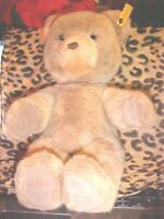 "Steiff Original Bear 12"" SEATED Stuffed Animal Plush 0205/35 Light Brown EAR TAG"