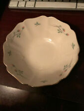 Lenox Rose Manor flowered scalloped Jewelry or candy dish 6 inch bowl