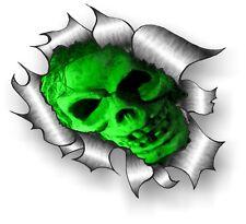 GRANDE CLASSICO STRAPPATO metallo Rip & Male verde gotico horror teschio