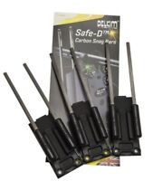 3 x Delkim Safe D Carbon Snag Ears Carp Fishing Rod Security Bars