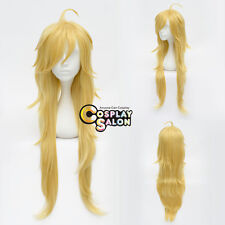 Panty and Stocking Panty Golden Anime Cosplay Curly Hair Wig +Cap