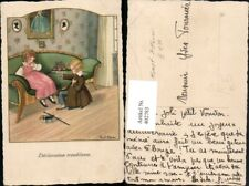 402783,Künstler AK Pauli Ebner Kinder Liebe Blumenstrauß pub M. D. 1205