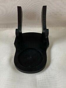 Tea Cup & Saucer Display Stand Holder Rack Easel  Wood Resin Black