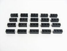 Lot 20 LEGO Black Standard  Brick 1 x 3 studs Basic Structure Building #3622
