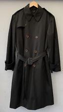 Mens Black Paul Smith London Rain Mack Long Coat Size Medium RRP £500