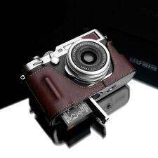 New GARIZ Genuine Leather FUJI X100F Half Case Brown For Fujifilm X100F X100F