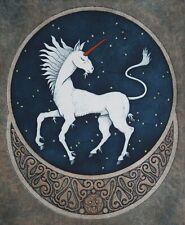 Irish Mythology Etching of a Unicorn - Numbered and signed by Artist