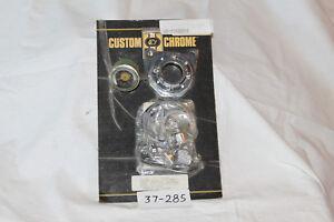 Chrome Allen Handlebarr Mount 100LB Oil Pressure Gauge Kit B/T 1973-Up