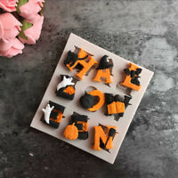 DIY Halloween Silicone Fondant Cake Mold Handmade Resin Clay Craft Mould
