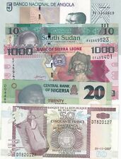 AFRICA EXCELLENT LOT OF 5 DIFFERENT BANKNOTES UNC,/AUNC