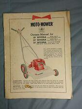 "Moto-Mower 18"" 21"" RIVIERA Gas Powered Lawn Mower Owners Manual (12-58)"