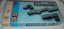 Dragon Dominoes Halsam Double Nine 55 Pieces 1970 Milton Bradley Co Bones
