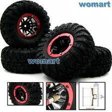 4pcs RC Inflatable Tires & 2.2 Beadlock Wheel & Air Pump For 1/10 RC 4WD Crawler